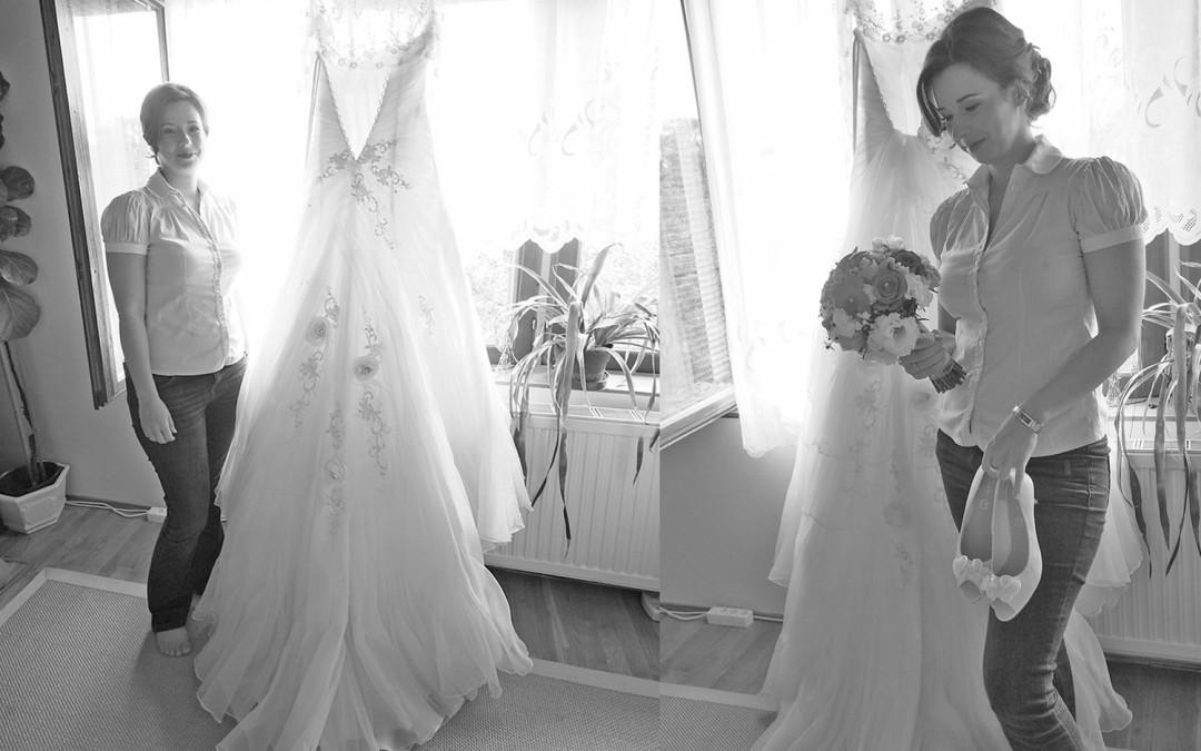 Esküvői készülődés: Hajni és András