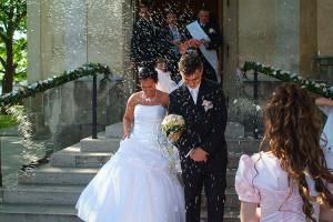Esküvői rizszáporban