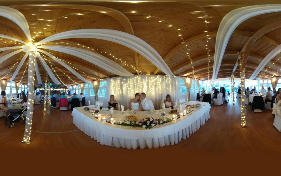 Az esküvői helyszín, ahogy gömbpanorámával  láthatod! Ne hagyd ki az élményt!