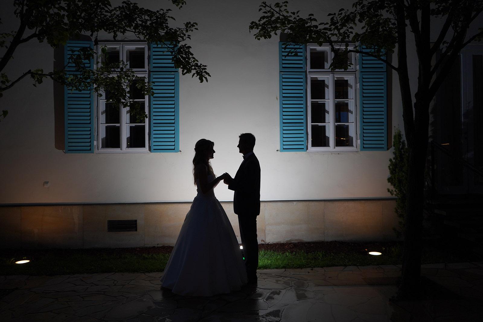 esküvői fotó árnykép